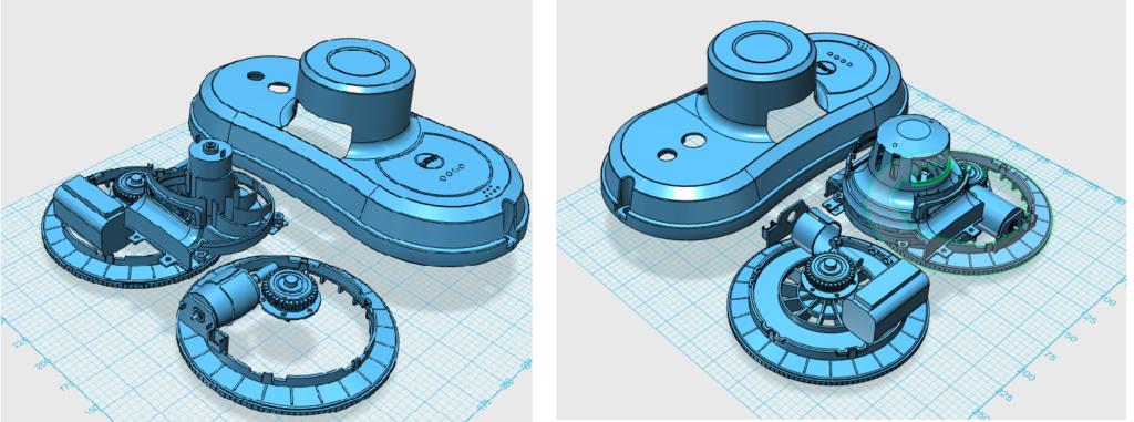 diseño 3d del prototipo robot osoji para limpieza